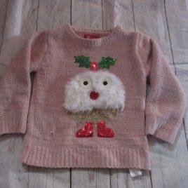 Pink Christmas jumper 2-3 years