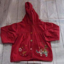 Next red hoodie cardigan 2-3 years