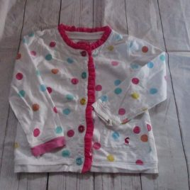 Joules white spotty cardigan 3 years