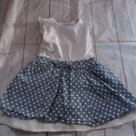 Spotty blue dress 18-24 months