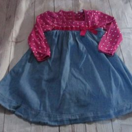 John Lewis pink & blue dress 18-24 months