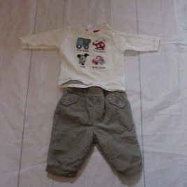 Next top & trousers outfit 0-3 months