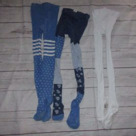 x3 pairs of tights 3-4 years