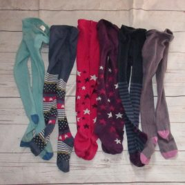 x6 pairs of tights from Boden and John Lewis 3-4 years