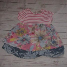Next stripes & flowers tunic top 2-3 years